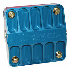 """Oberg 6"""" 600B Series Billet  Filter w/ 115 Micron Screen Blue - SKU 6115_BLU"""