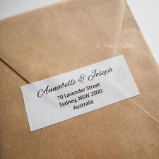 Personalised Return Address Labels Stickers Custom Wedding Invitation 60-120 pcs