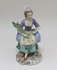 Charming 20th Century Vintage German Sitzendorf Figure of a Lady with Flowers