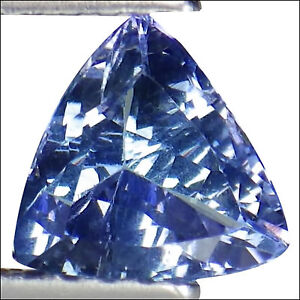 6x6x3.50 MM Natural Tanzanite Trillion Cutstone -#9810 0.85 CTS Beautiful Cutstone.