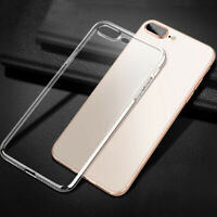 Soft Silicone Clear Phone Case Protect Cover Skin for iPhone XR 8 7 6 Plus 5S SE