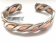 NEW COPPER & NICKEL Mens Braided Adjustable Cuff Bracelet Made in the USA
