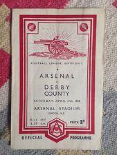 Arsenal V Derby County 1947/48