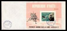 DR WHO 1969 HAITI FDC SPACE APOLLO 11 MOON LANDING S/S  f95294
