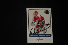 DALE HUNTER 2001 FLEER GREATS OF THE GAME SIGNED AUTOGRAPHED CARD #18 CAPITALS