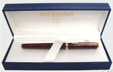 WATERMAN PREFACE RED & GOLD FOUNTAIN PEN  18K GOLD FINE  PT  NEW IN BOX