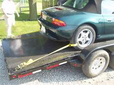 ONE- Car Trailer Tie Down Strap Set Ratchet Wheel Tire Trailer Truck Lasso