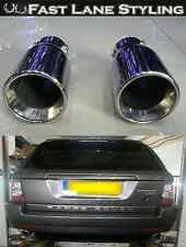 Range Rover Sport Custom t304 Stainless Steel Dual Tail Pipes Trims Exhaust