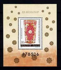 Hungary - 1980. Stamp Day, Glassware S/S-Mnh