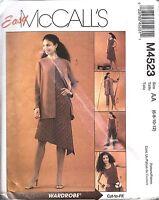 4523 UNCUT Vintage McCalls Sewing Pattern Misses Jacket Top Dress Pants Easy OOP