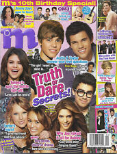 M magazine Justin Bieber Taylor Lautner Selena Gomez Taylor Swift Miley Cyrus