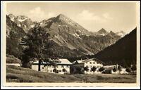 Birgsau Bayern alte Ansichtskarte~1940 Berghöfe Blick auf Alpen Berge Panorama