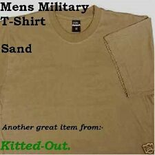 Mil-Com Short Sleeve T-Shirt, Military Style Plain Desert Sand X/L NEW Packaged
