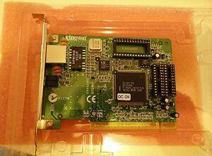 1x KINGSTON KNE100TX , New PCI Network Card , 10/100 MBPS chip Intel 21143-PD