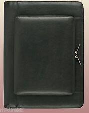 Schreibmappe A4 Rindnappa-Leder Reißverschluss Steckfach außen für iPad 9993