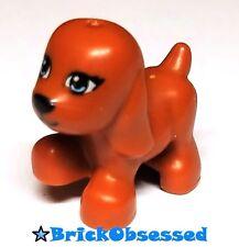 LEGO Friends Dark Orange Dog Walking Blue Eyes Puppy Animal Pet 41011 3942 3188