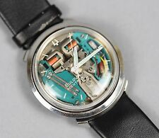 "Vintage Bulova Accutron Men's ""Turtle"" B Spaceview Tuning Fork Watch FOR REPAIR"