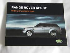 RANGE Rover Sport 2006 LISTINO PREZZI INC. le opzioni e accessori