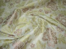 "~BTY~100% SILK STROHEIM~""MAHA FLORAL""~EMBROIDERED SHEER DRAPERY FABRIC FOR LESS~"