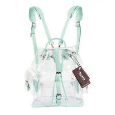 Girl's Korean Summer Clear Backpack Cute Transparent Knapsack Satchel School Bag