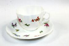 Hammersley Demitasse Tea Cup & Saucer C438 England MInt Condition Floral Flower