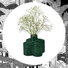 Orla Kiely Stem Vase Green- Striped Flower- Small Floral Ceramic Wild & Wolf
