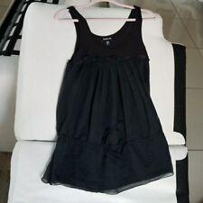 bebe black women's cami tank top black color sleeveless size sx