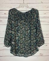 Daniel Rainn Stitch Fix Women's S Small Floral Button Cute Top Blouse Shirt