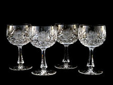 American Brilliant ABP Cut Glass Harvard Daisy Zipper Stem Water Goblets Glasses