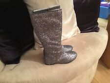 NEXT GIRLS KNEE LENGTH SPARKLY BOOTS SIZE 13