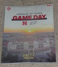 2018 Nebraska vs. Akron Zips Football Program 9-1-2018