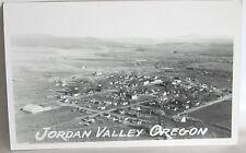 VINTAGE RRPC BIRDS EYE VIEW JORDAN VALLEY, OREGON photo postcard