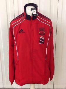 Mens Liverpool FC Adidas Full Zip Presentation Jacket Large 44/46 Red Black BNWT