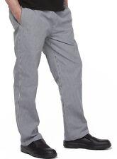 2 x Chef Pants DNC Checkered Elastic Drawstring Unisex All Sizes Uniforms