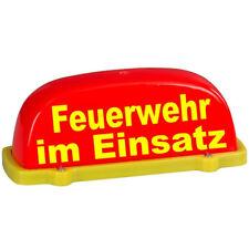 Dachaufsetzer Feuerwehr im Einsatz nicht beleuchtet (Dachschild Warnschild rot)