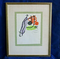 JOAN MIRO 1967 BOUQUET DE REVES POUR NEILA lithograph S/Ltd 1/25 owned since '71