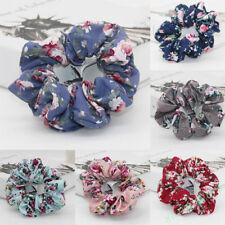 Elegant Floral Cotton Scrunchies Flower Hair Ties Hair Accessories Headwear New
