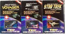 STAR TREK TEC Card  Prepaid Phone Cards Set Of 3 New Sealed Unused