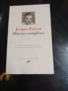 La pleiade Jacques Prévert Oeuvres Complètes I 1992 Très bon état