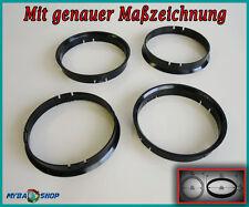 4x Centering Ring 71,6 - 67,1 for Mazda Kia Mitsubishi Hyundai Volvo Etc