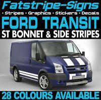 FORD TRANSIT ST BONNET & SIDE STRIPES GRAPHICS STICKERS DECALS MK6 MK7 M SPORT
