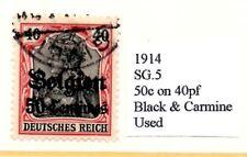 German Occupation Issues - Belguim 1914  50c on 40pf Black & Carmine  SG.5 Used