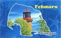 Fehmarn Mar Báltico de Faro Staberhuk Germany Foto Imán Viajes Recuerdo, Nuevo