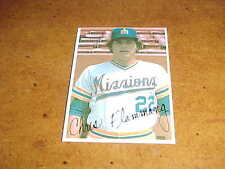 1980 San Jose Mission Chris Flammang Minor League Baseball Card