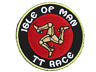 "Isle Of Man TT GP Race Motorbike Racer Iron On Embroidered Patch 2.7""x2.7"""