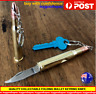 Large Bullet Knife Hot Camping Pocket Knife keyring folding gun bullet knife AU