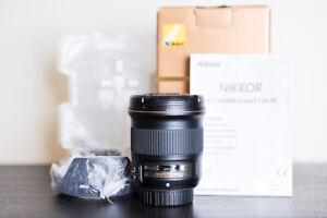 Nikon AF-S 24mm F/1.8G FX Prime Lens - US Model & MINT!