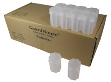 100 High Quality Square Tubes Medallion Size Snap-tight lids By Guardhouse 1 Box