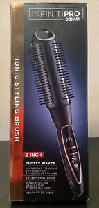 INFINITIPRO BY CONAIR Platinum Hot Curl Brush; 2-inch Ionic Styling Glossy Waves