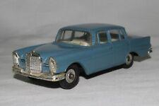 Dinky Toys # 186 Blue 1960's Mercedes 220e 1/43 Scale, Original